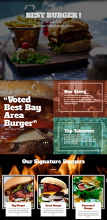 Best Burger Website Template