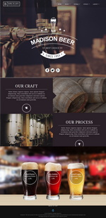 Madison Beer Distillery Website Template
