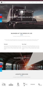 Freight and relocation Website Template