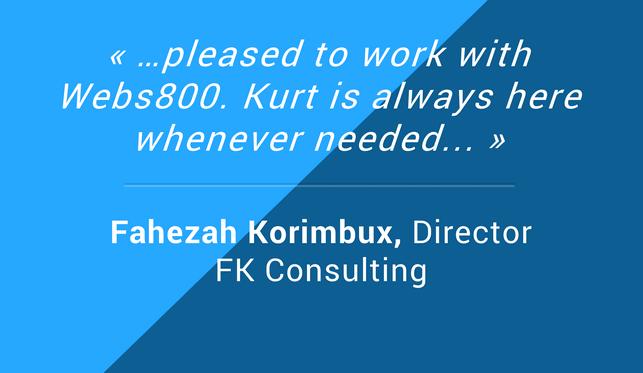 Testimonials Fahezah Korimbux Director FK Consulting